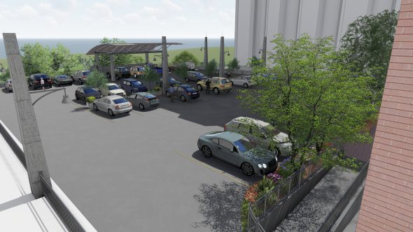 Parking Lot Rendering. Photo courtesy of the Wisconsin Conservatory of Music.