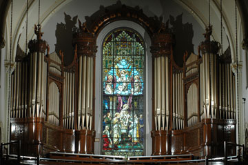 Organ - St. Joseph Chapel. Photo courtesy of the American Guild of Organists.