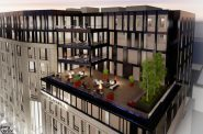 Balconies at the Huron Building. Rendering by Engberg Anderson Architects.