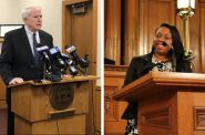 Mayor Tom Barrett (Photo by Jeramey Jannene), Alderwoman Chantia Lewis (Photo from City of Milwaukee)