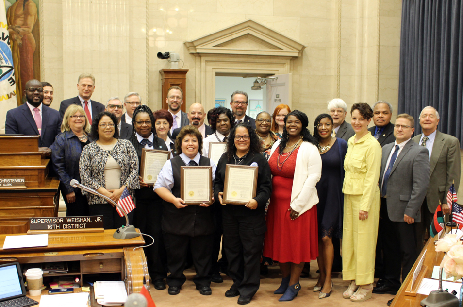 County Board Honors Seven MCTS Bus Drivers for Finding Lost, Missing Children. Photo from MCTS.