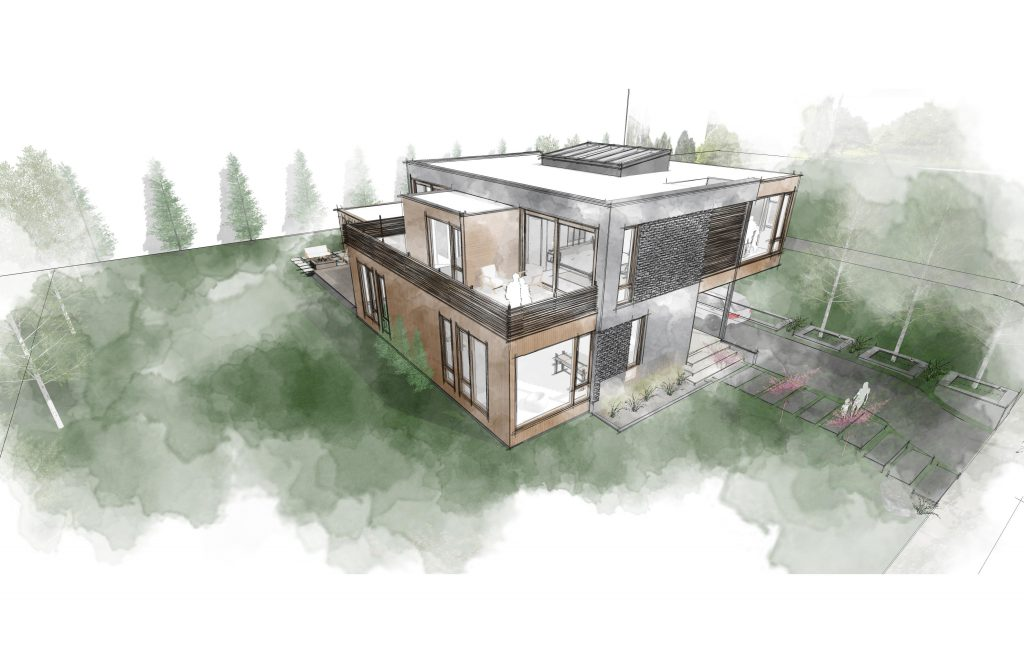 Proposed Shuk House. Rendering by Korb + Associates Architects.