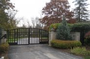 Gate to O. J. Mayo's River Hills McMansion. Photo by Michael Horne.