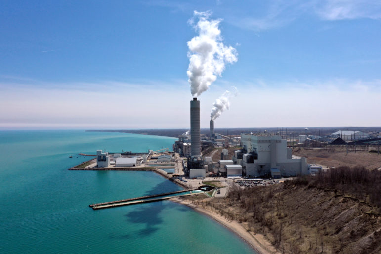 Oak Creek Power Plant and Elm Road Generating Station. Photo by Coburn Dukehart/Wisconsin Watch.