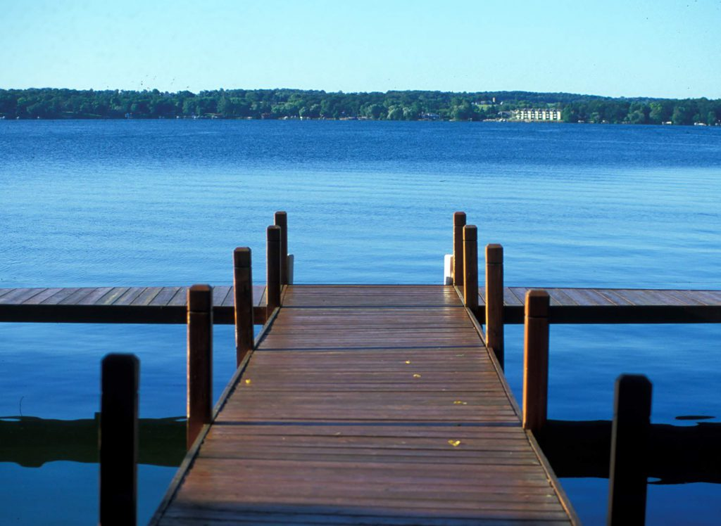A pier on a Wisconsin lake. Photo from Wisconsin Department of Natural Resources (CC BY-ND 2.0).