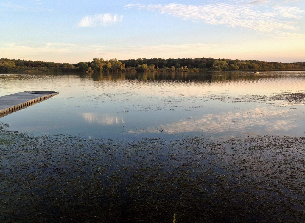 Lake Wingra in Madison has long suffered the ecological effects of urban development within its very small watershed. Photo from Wisconsin Department of Natural Resources (CC BY-ND 2.0).