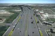 North Houston Highway Improvement Project Rendering. Rendering from the Texas Department of Transportation.