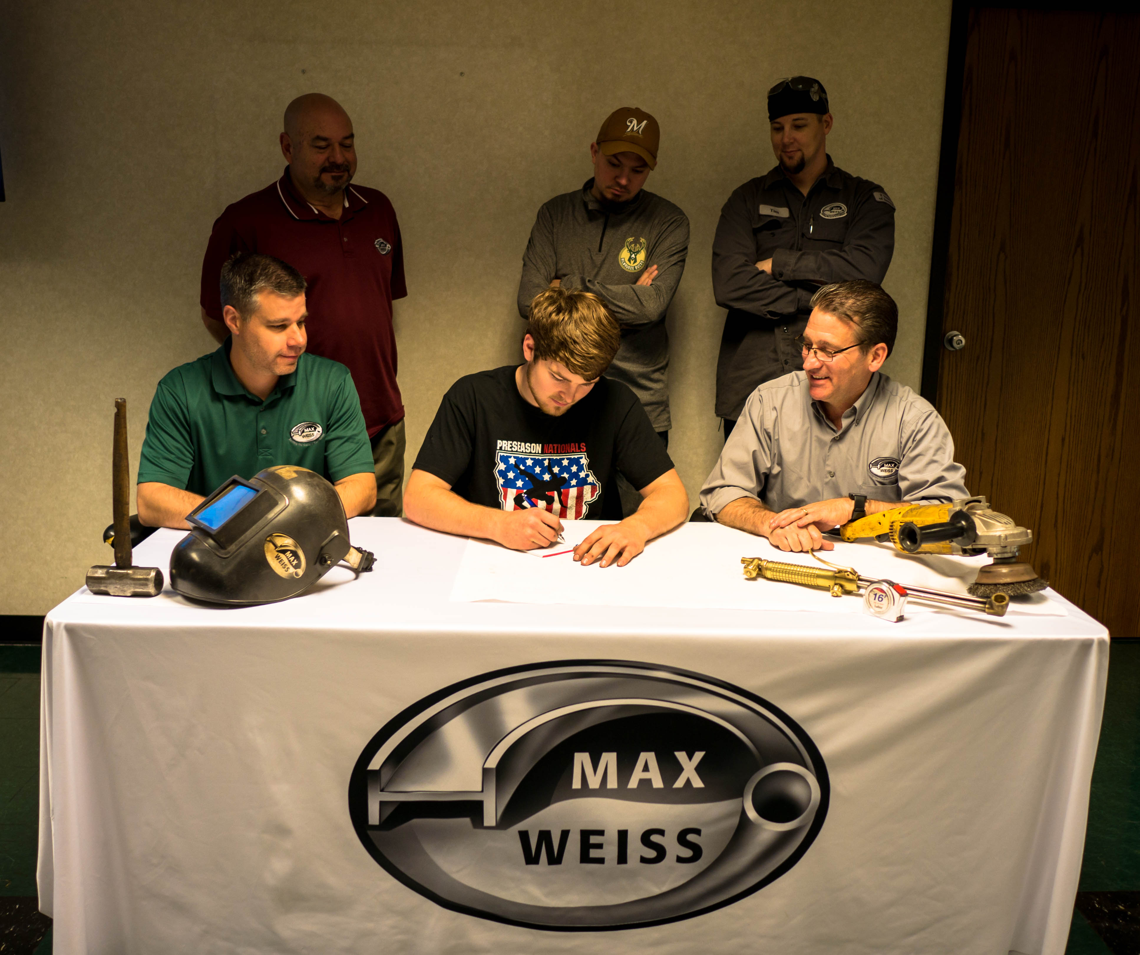 "Max Weiss Company ""Signs"" Grayson Vandenbush as Metalworking Intern"