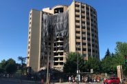 McCormick Hall demolition. Photo by Jeramey Jannene.