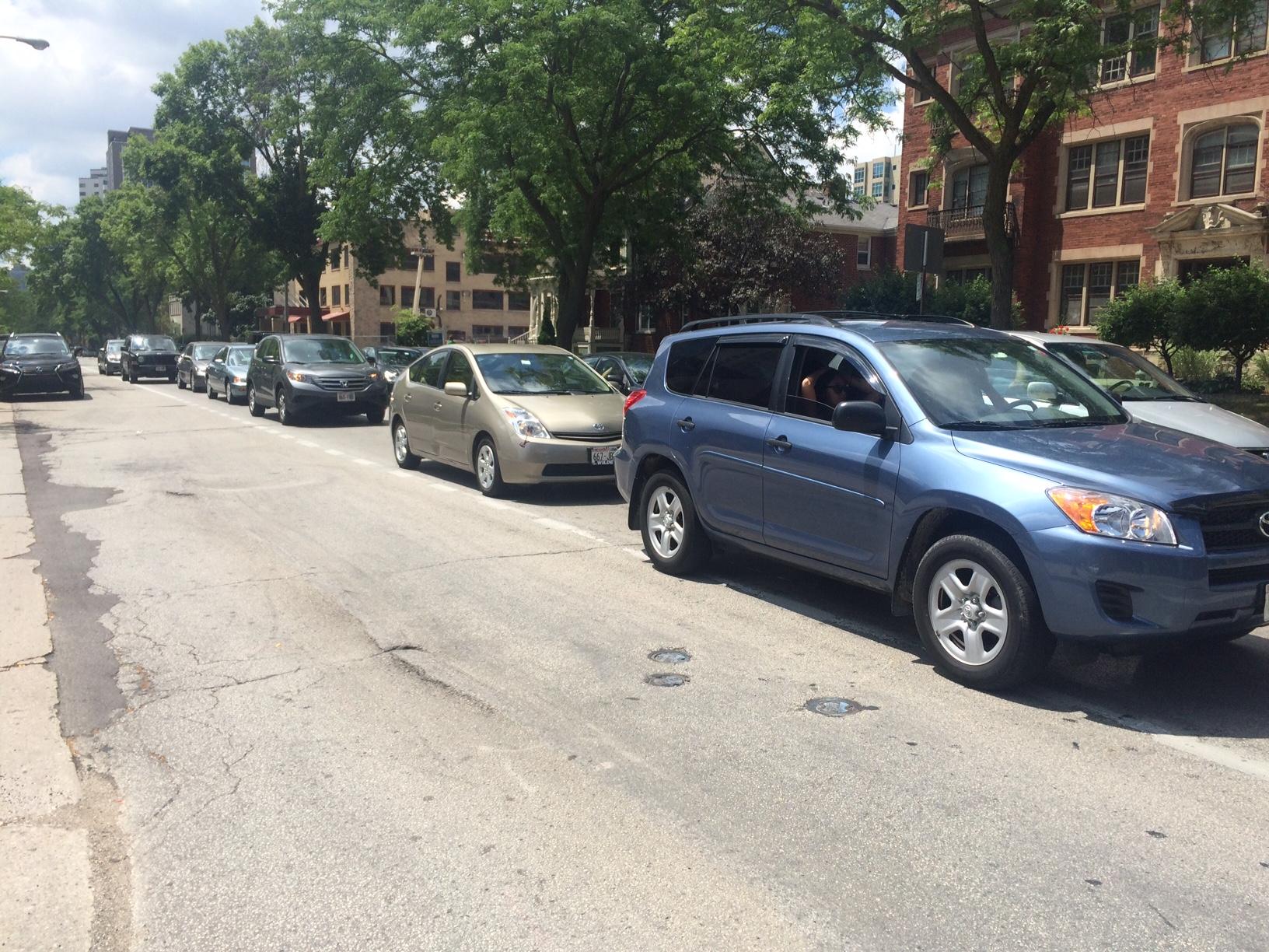 N. Prospect Ave. Traffic Jam