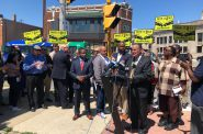 "Ald. Donovan speaks at the ""Take It EZ"" press conference. Photo by Jeramey Jannene."