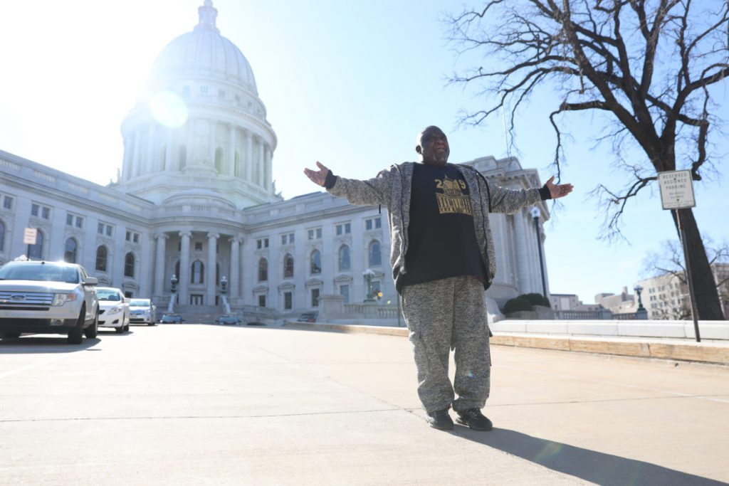 "Former prisoner Sylvester Jackson says he is constantly worried about violating terms of his extended supervision. ""I go day by day, but it's always in the back of my mind that I can lose everything without even committing a new crime."" So-called crimeless revocations now account for 40% of new admissions in the Wisconsin prison system. Gov. Tony Evers says he wants to end the practice of reincarcerating offenders for rule violations. Photo by Emily Hamer/Wisconsin Watch."