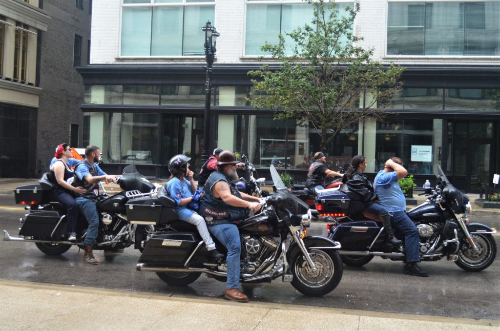 Harley Riders at Labor Day Parade 2018. Photo by Jack Fennimore.