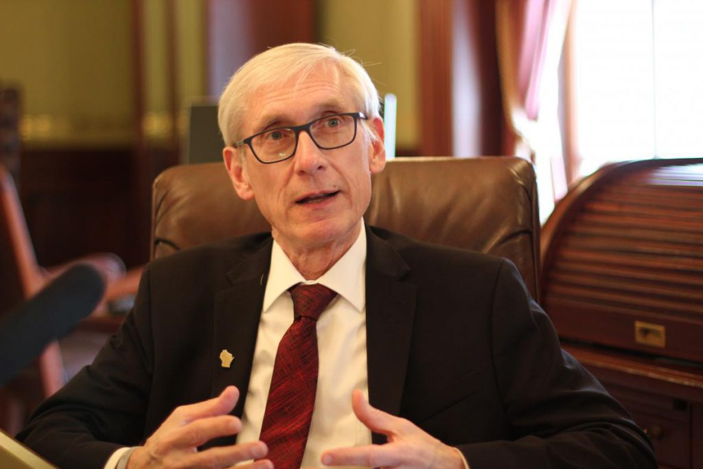 Tony Evers. Photo by Shawn Johnson / WPR.