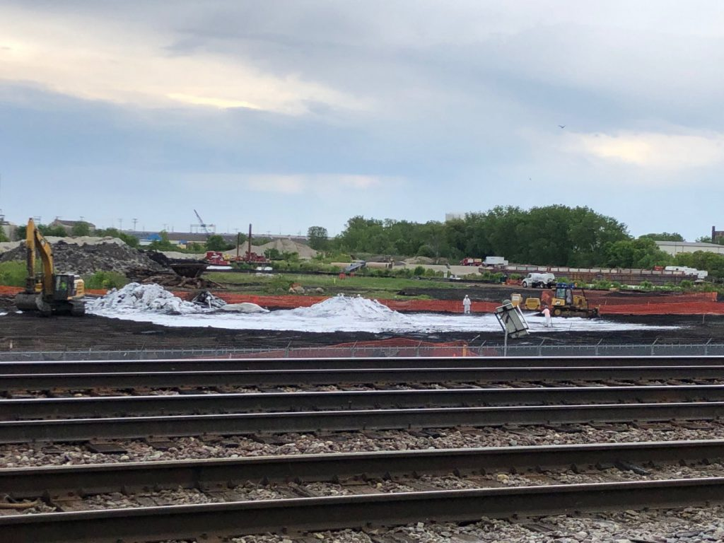 Solvay Coke site cleanup. Photo taken June 11th, 2019 by Jeramey Jannene.