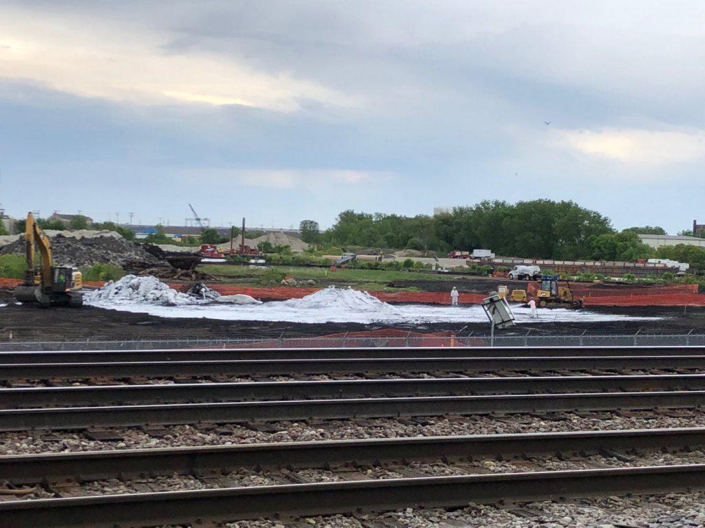 Solvay Coke site cleanup. Photo taken June 11th, 2019 by Jeramey Jannene.