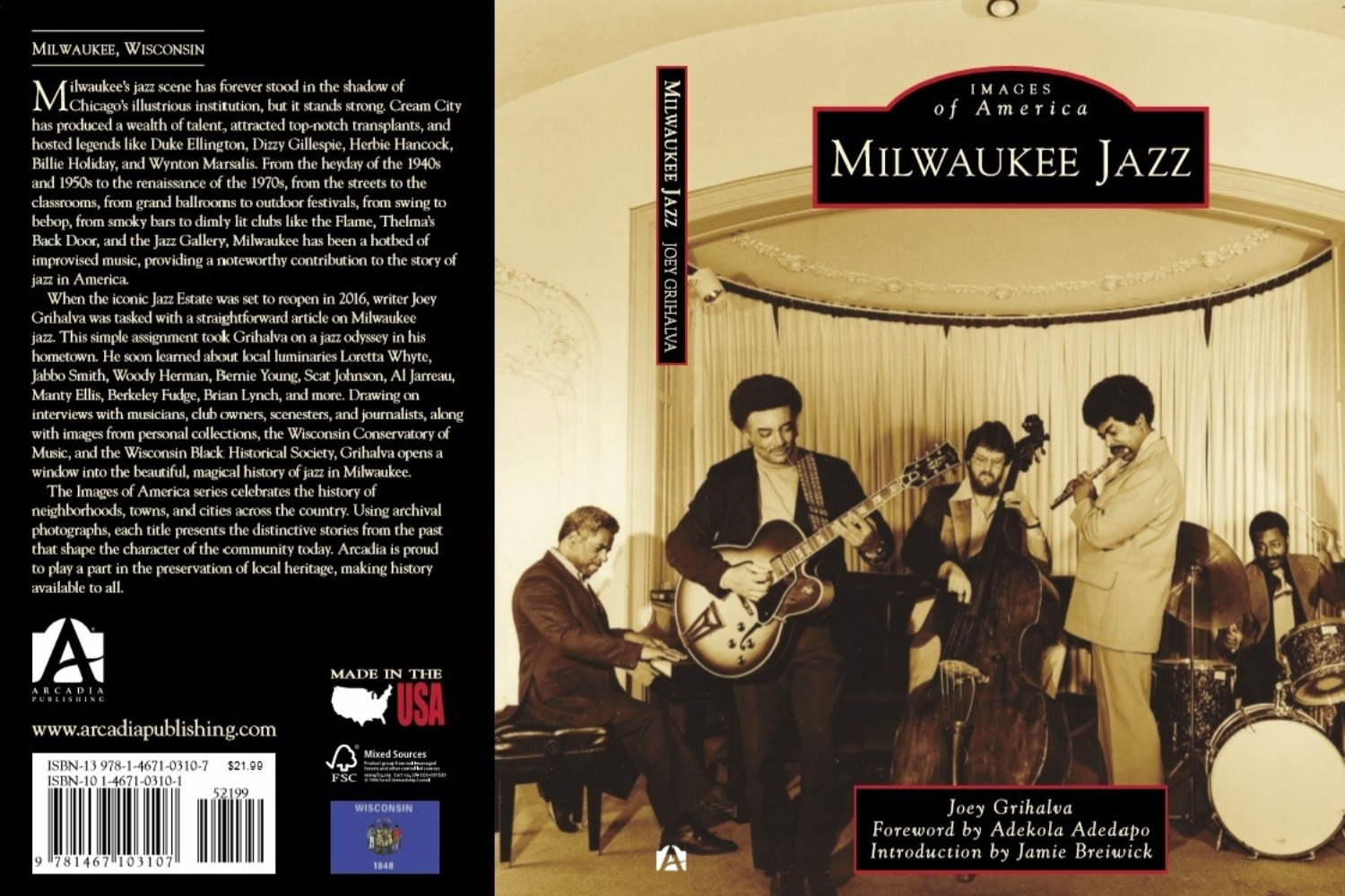 Milwaukee Jazz by Joey Grihalva. Image from Arcadia Publishing.