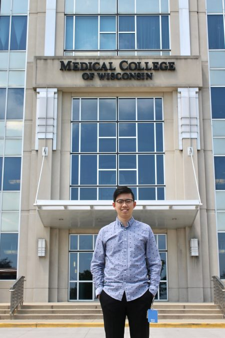 James Wu, third-year student at the Medical College of Wisconsin, pitched the idea for the Hmong health segment to Nyob Zoo Milwaukee TV. Photo by Amanda Parrish/NNS.