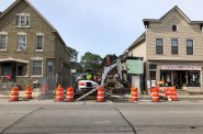 2349 S. Kinnickinnic Ave. Demolition. Photo by Jeramey Jannene.