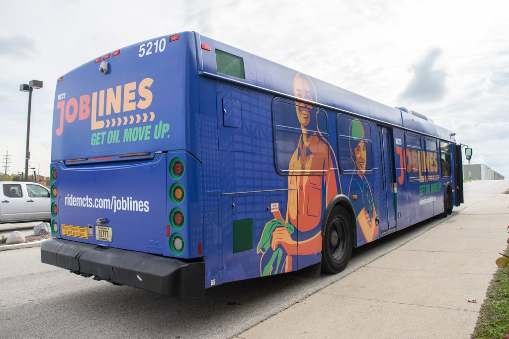 The closing of the JobsLine, which included stops in Menomonee Falls and Germantown, and the prospect of more cuts has rattled some members of the community. Photo from MCTS.