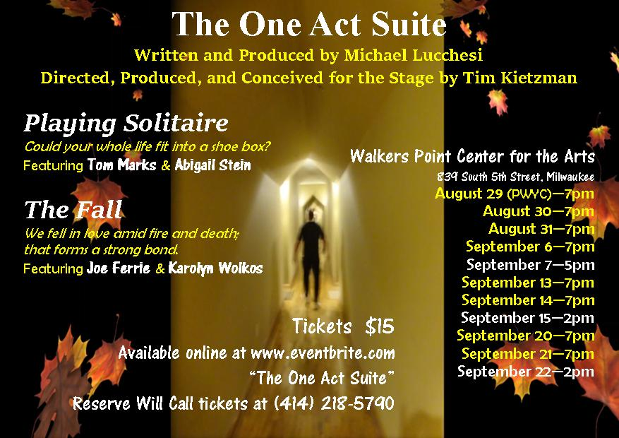 Walker's Point Center for the Arts to feature Michael Lucchesi's THE ONE ACT SUITE