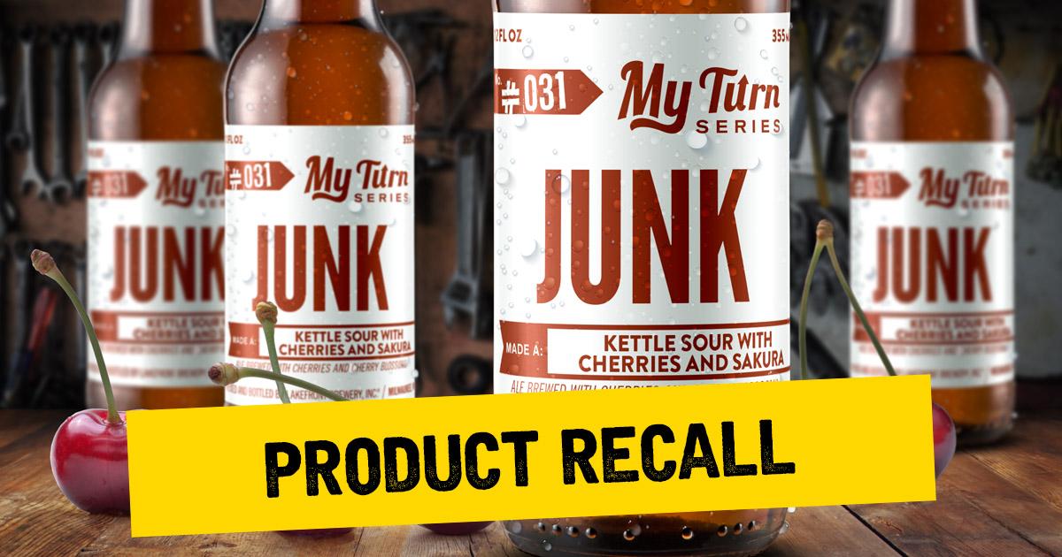 Lakefront Brewery Recalls Bottled Beer: My Turn™ Junk