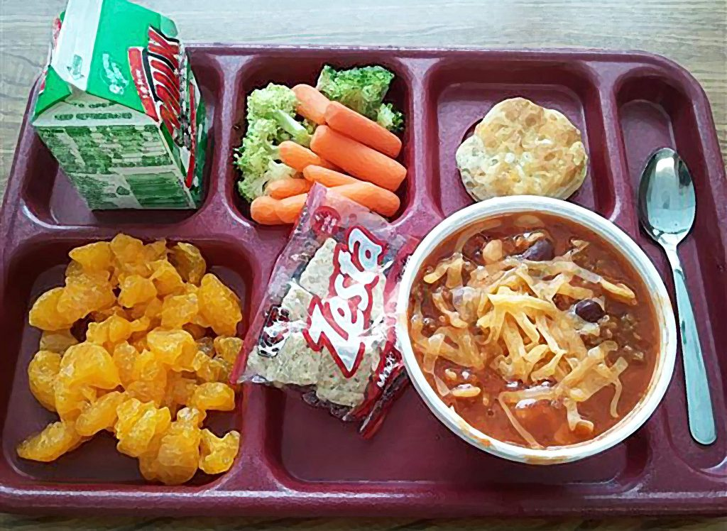 School lunch. Photo from the School District of Marshfield.