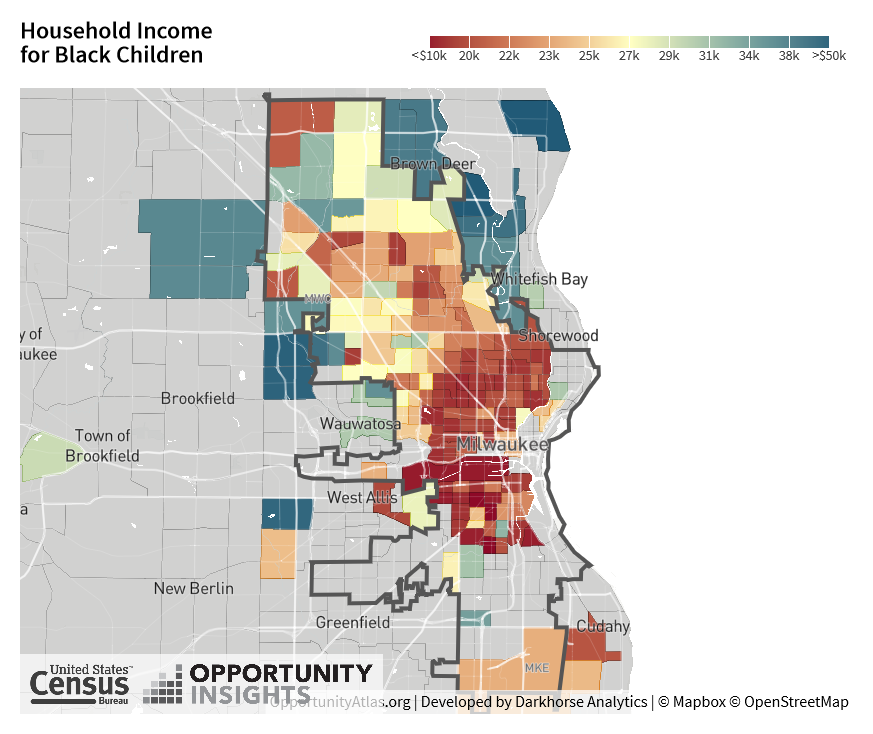 Household Income for Black Children