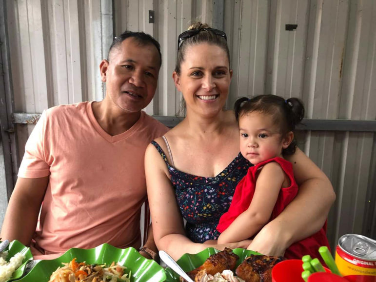 Sothy, Lisa and Emma are seen in Cambodia in August 2018. The family lived in Wisconsin when Sothy was deported to Cambodia in April 2018 after being charged with possession of marijuana with intent to deliver. Sothy Kum had spent most of his life in the United States. Photo courtesy of Lisa Kum.