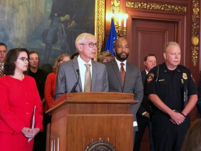 Evers, Democrats Unveil Background Checks Bill