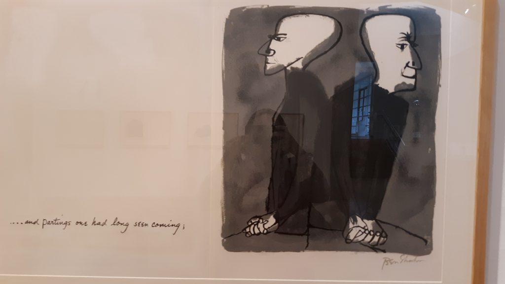 Lithograph by Ben Shahn. Photo by Catherine Jozwik.
