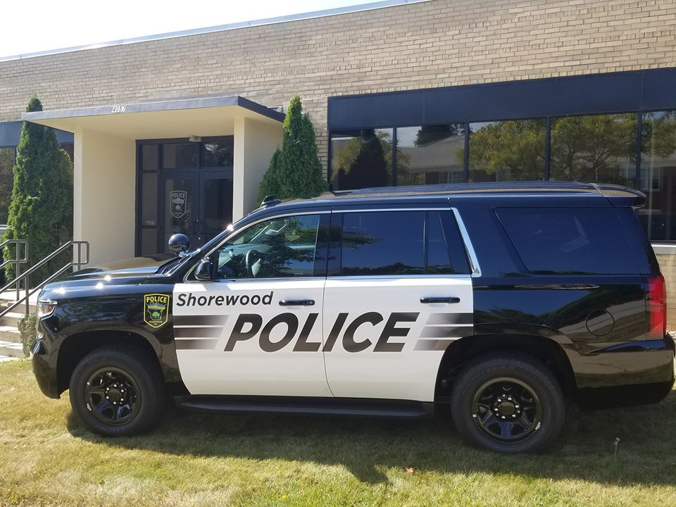 Shorewood Police Department truck. Photo from the Shorewood Police Department Facebook page.
