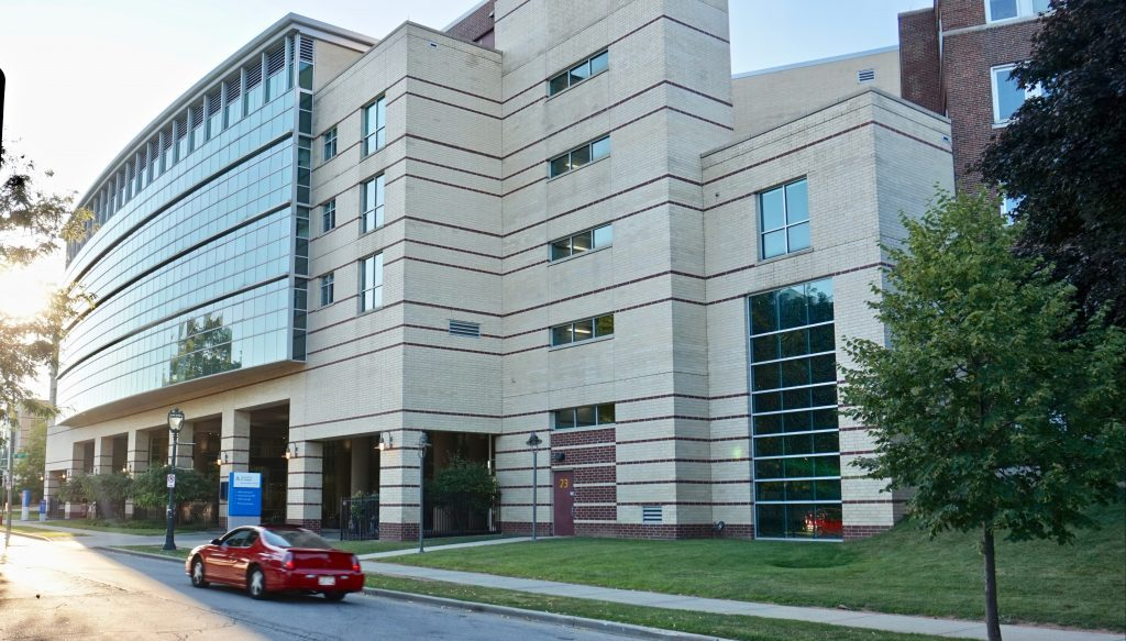 Ascension St. Joseph hospital, located in Sherman Park, is an essential provider of medical services to North Side residents. Photo by Andrea Waxman/NNS.
