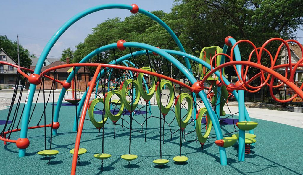 Custer Playfield. Photo courtesy of Milwaukee Recreation.