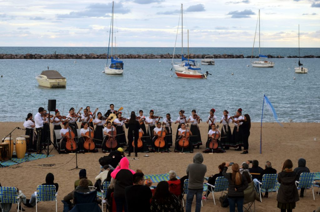 A youth orchestra plays at We Are Water 2019. Photo by Jack Fennimore.