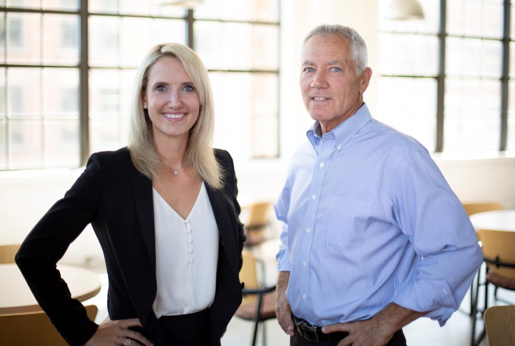 Andrea Bukacek and Jim Cairns. Photo courtesy of Bukacek Construction.