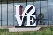 "Robert Indiana's 1970 ""American LOVE"" sculpture. Photo by Dave Reid."