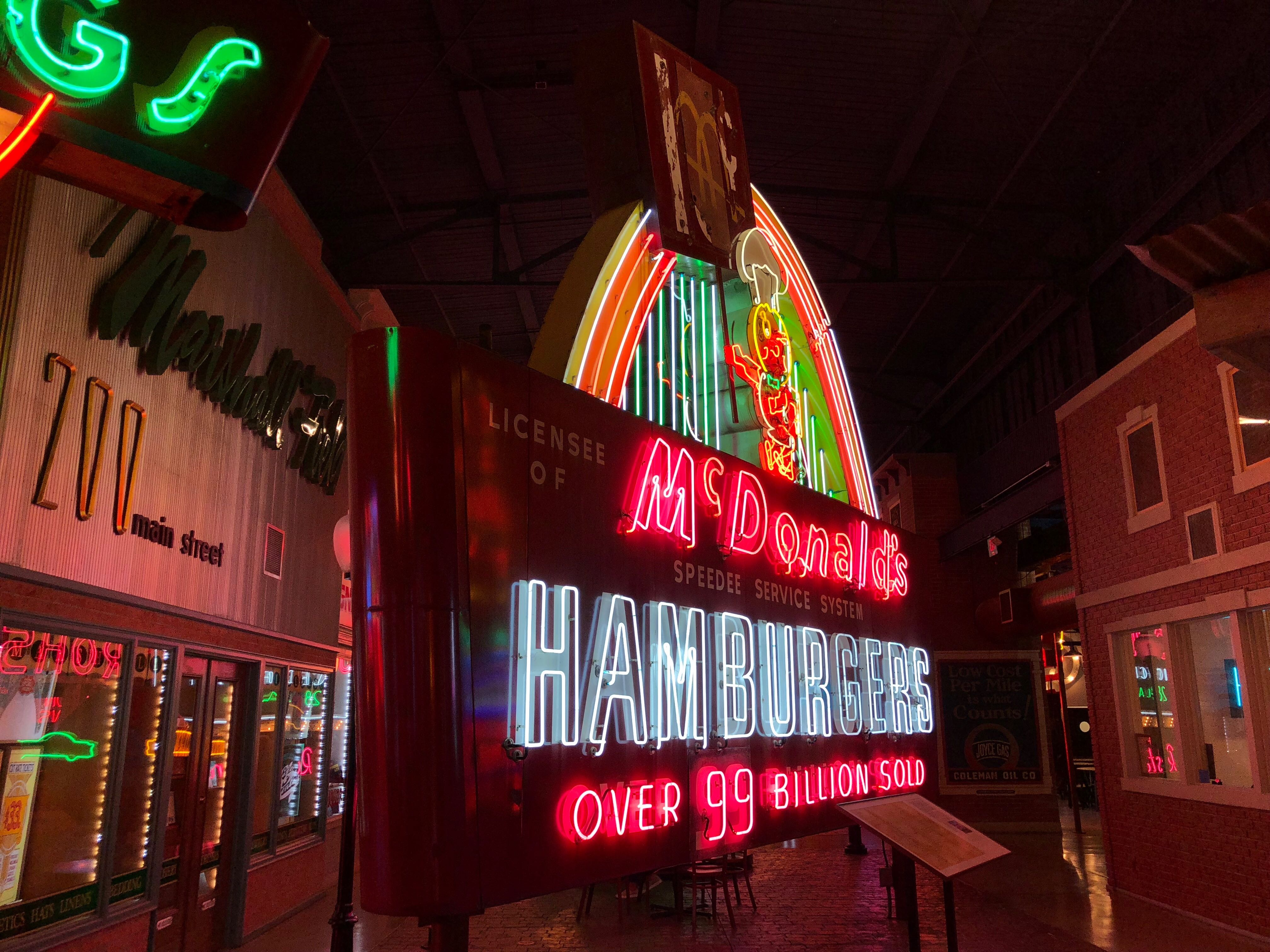 McDonald's neon sign at the American Sign Museum. Photo by Jeramey Jannene.