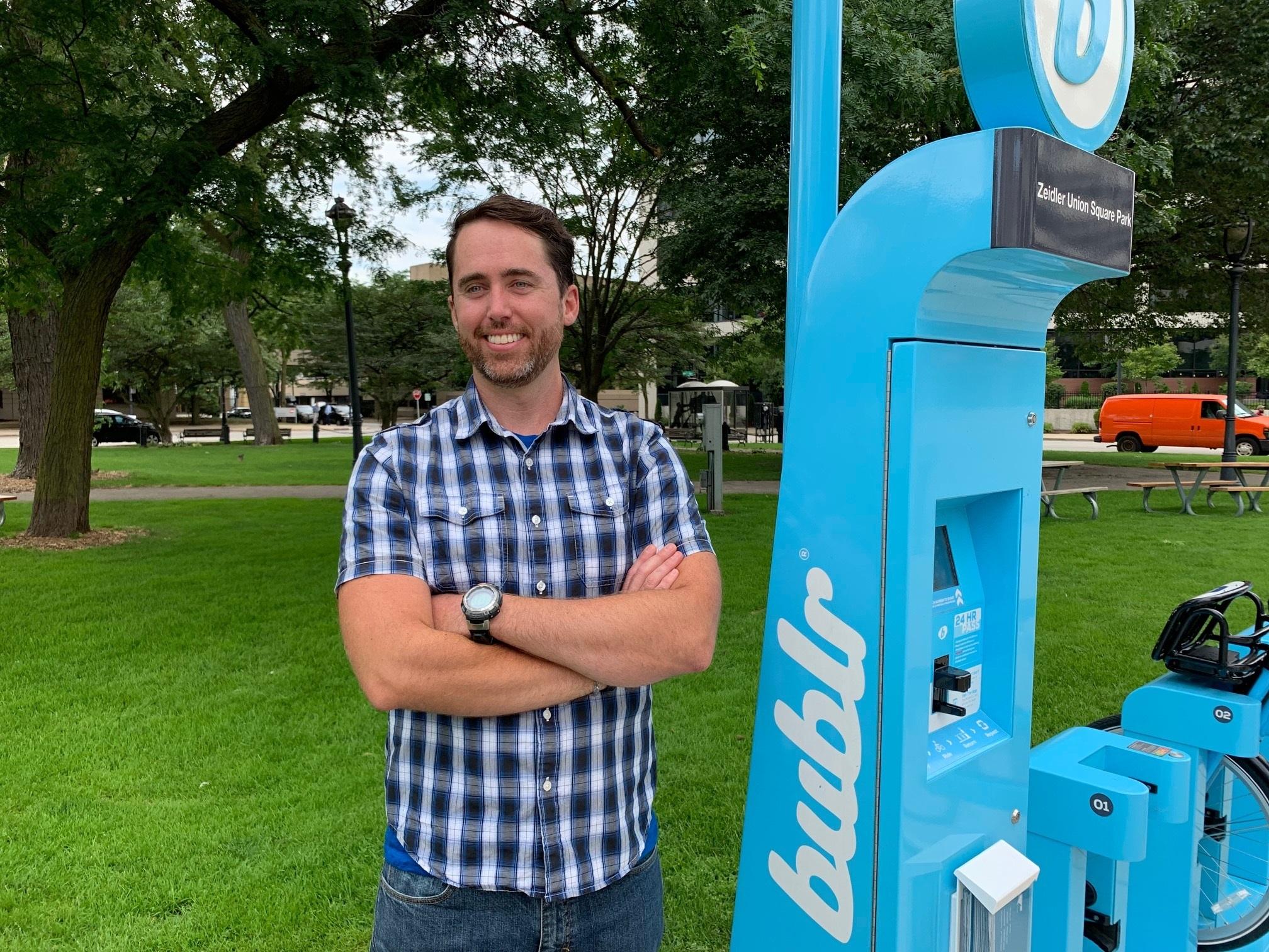 James Davies. Photo courtesy of Milwaukee Downtown, BID #21.