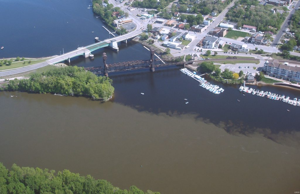 Prescott, Wisconsin, is just cross the St. Croix and Mississippi rivers from Minnesota. Photo is in the Public Domain.