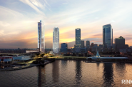 815 East, with The Couture, US Bank Center and Norhwestern Mutual Tower. Rendering by RINKA.