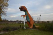 Johnson's Park dinosaur. Photo from Gerlach Companies auction listing.