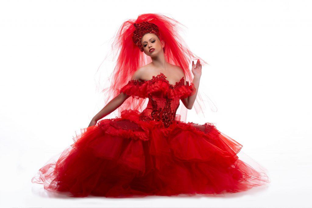Model: Brittany Victoria. Designer: Mj Designs. Hair & Makeup Artist: Robyn Schlei. Photographer: Dave Hathaway.
