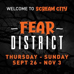 Deer District Transforms Into Fear District From Thursday, Sept. 26 to Sunday, Nov. 3