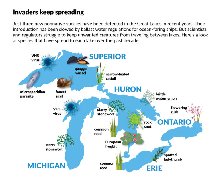 "Bridge Magazine / Source: U.S-Canadian ""State of the Great Lakes 2019"" draft report."