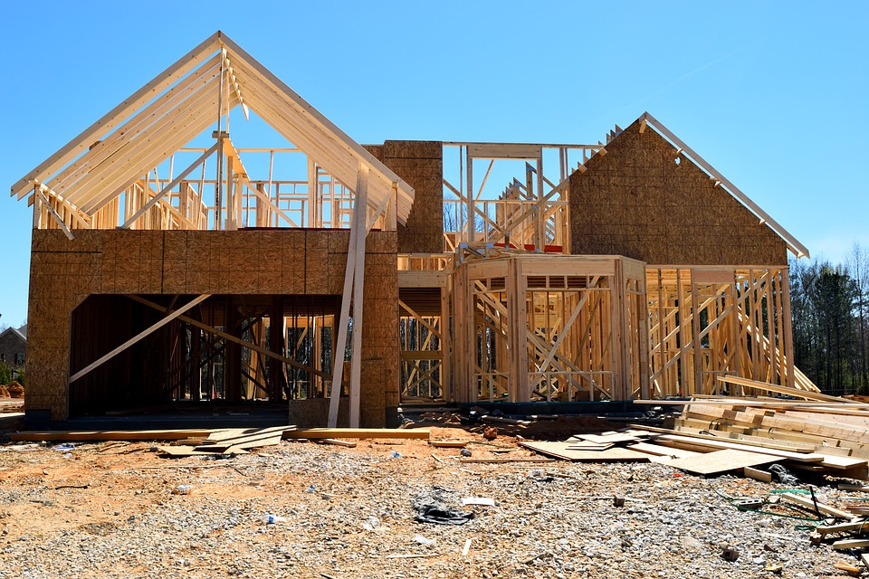 New home construction. Pixabay License. Free for commercial use. No attribution required.