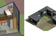 Tiny homes renderings. Renderings by SEH.