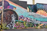 Milwaukee artists Zenon Castillo created this mural on South First Street in Walker's Point. Photo by Sue Vliet/NNS.