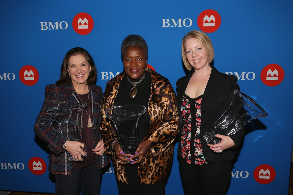 BMO Celebrating Women 2019 Milwaukee honorees (left to right), Linda Gorens-Levey, Thelma A. Sias and Erica Elia. Photo courtesy of BMO Harris Bank.