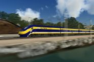 California High-Speed Rail Rendering. Image is in the Public Domain.